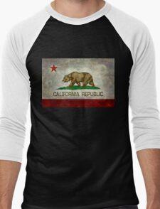 California Republic state flag - Vintage retro version Men's Baseball ¾ T-Shirt