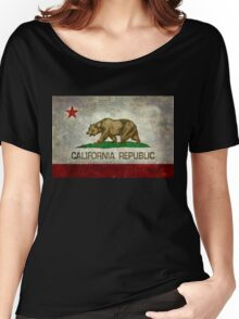California Republic state flag - Vintage retro version Women's Relaxed Fit T-Shirt
