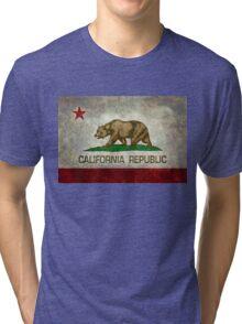 California Republic state flag - Vintage retro version Tri-blend T-Shirt