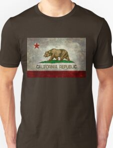 California Republic state flag - Vintage retro version Unisex T-Shirt