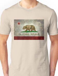 California Republic state flag - Vintage retro version Unisex T-Shirt
