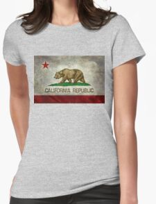 California Republic state flag - Vintage retro version Womens Fitted T-Shirt