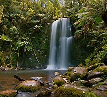 Beautiful Beauchamp Falls in the Otway National Park by Chris  Randall