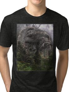 Psychedelic Gorilla illusion poster Tri-blend T-Shirt