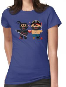 NINJA LOVES PIRATE Womens Fitted T-Shirt