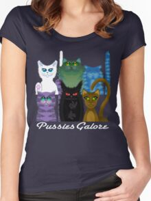PUSSIES GALORE Women's Fitted Scoop T-Shirt
