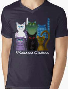 PUSSIES GALORE Mens V-Neck T-Shirt