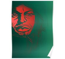 David Gilmour from Pink Floyd Caricature Poster