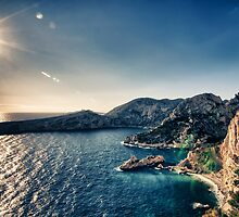 Les Calanques Sunset by Explosive Curiosity