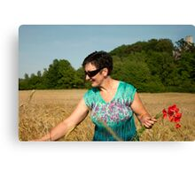 Woman and nature Canvas Print