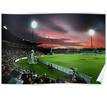 Sunset at Bellerive Oval Poster