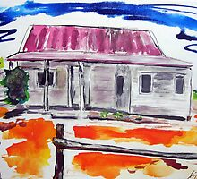 Outback Homestead Bright by gillsart