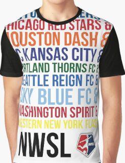 National Women's Soccer League Teams Graphic T-Shirt