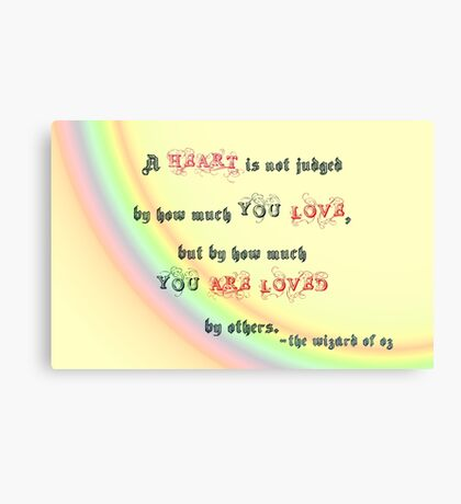 A heart is not judged... v2.0 Canvas Print