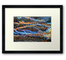 Ice Fire Framed Print