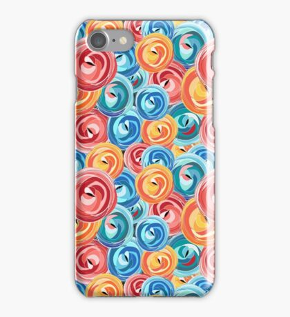 background abstract rose pattern iPhone Case/Skin