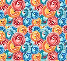 background abstract rose pattern by Tanor