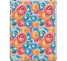 background abstract rose pattern iPad Case/Skin