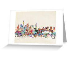 sydney skyline watercolor Greeting Card