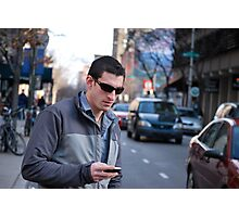 texting: Check out the parade Photographic Print
