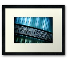 Forthcoming Attractions Framed Print