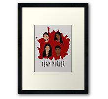Team Murder Framed Print