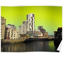 Ipswich Waterfront, Dayglow Green Sky Poster
