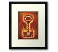 Flaming Piston Framed Print