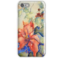 Poinsettia and Holly iPhone Case/Skin
