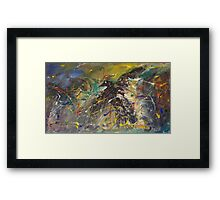 Crow amid torment Framed Print