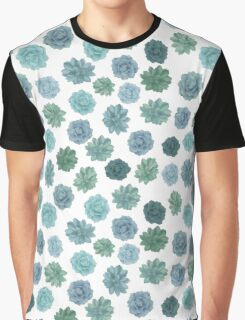 green succulent pattern Graphic T-Shirt