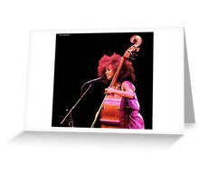 Esperanza Spalding in Concert at the Barbican 2011 Greeting Card