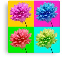 Dahlia Bright Coloured Wall Art Canvas Print