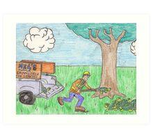 Turtle Shoveler Art Print