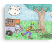 Turtle Shoveler Canvas Print
