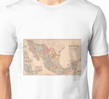 Vintage Map of Mexico (1859) Unisex T-Shirt