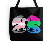Polysexual Demigirl Pride Dragons Tote Bag