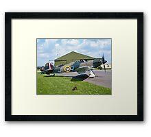 Hawker Hurricane IIc PZ865 JU-Q ready to roll. Framed Print