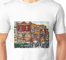 MONTREAL MEMORIES THE SPOT GROCERY STORE HOCKEY ART CANADIAN PAINTINGS Unisex T-Shirt
