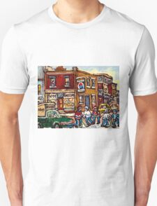 MONTREAL MEMORIES THE SPOT GROCERY STORE HOCKEY ART CANADIAN PAINTINGS T-Shirt