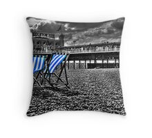 Deck chairs & Pier Throw Pillow