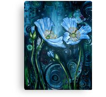 Blue Poppies - Finding Beauty in Chaos Series Canvas Print