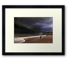 Head for cover Framed Print