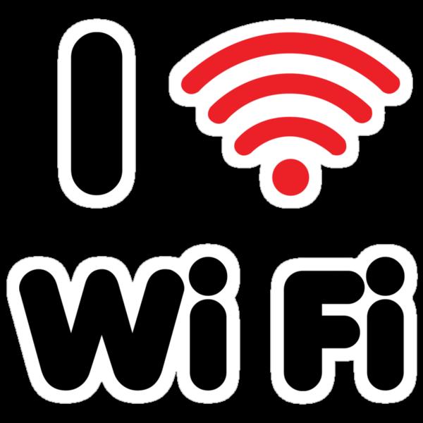 I Heart Wi Fi by DetourShirts