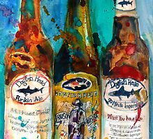 Dogfish Head Brewery Beer Art Print- Raison D'Extra - 90 Minute IPA - Punkin by Dorrie  Rifkin