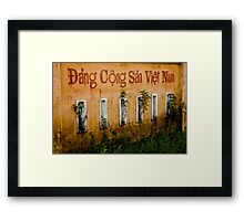 Wall Words Framed Print