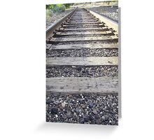Train track  Greeting Card