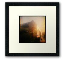 sunset storage Framed Print