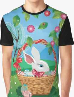 Easter Bunny and Grass Field 2 Graphic T-Shirt
