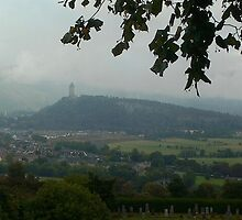 Wallace Monument As Seen From Stirling Castle, Scotland by MagsWilliamson